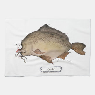 Carp fish, tony fernandes tea towel