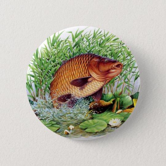 Carp Fishing 6 Cm Round Badge