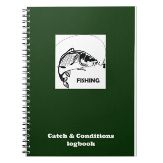 Carp fishing Catch and Conditions logbook Notebooks