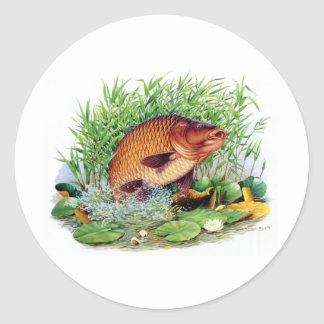 Carp Fishing Classic Round Sticker