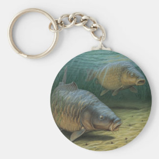 Carp Fishing Two Carp Key Ring