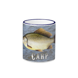 Carp Freshwater Fish, With Water Background Image Ringer Coffee Mug