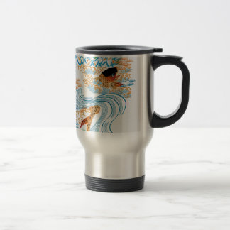 Carp swim in the COOL in the pond Stainless Steel Travel Mug