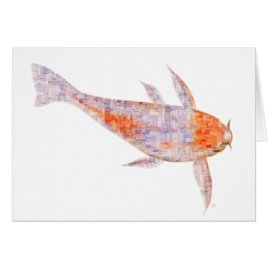 Carp Woodblocks Greeting Card
