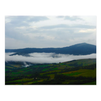 Carpathian Mountains in the Morning Postcard