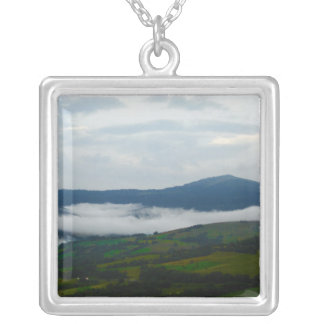 Carpathian Mountains in the Morning Silver Plated Necklace