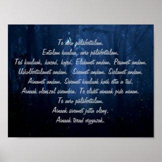 Carpathian Ritual Words Poster