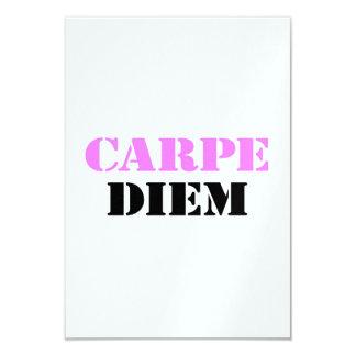 Carpe Diem 9 Cm X 13 Cm Invitation Card