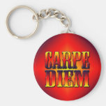 Carpe Diem Basic Round Button Key Ring