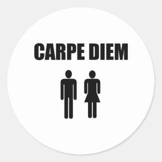 Carpe Diem (black text boy & girl) Stickers