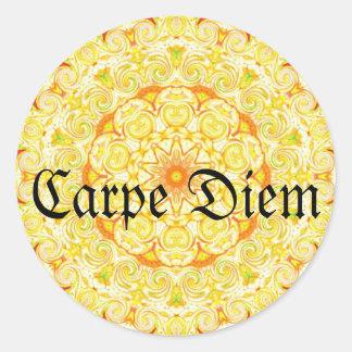 Carpe Diem Classic Round Sticker