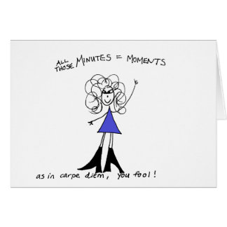 Carpe Diem Crazyhair Card