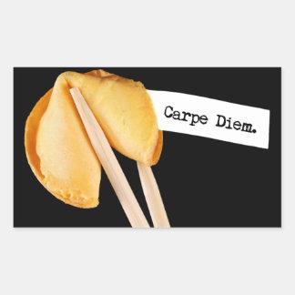 Carpe Diem Fortune Cookie Rectangular Sticker
