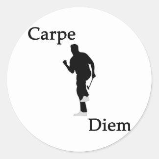 Carpe Diem Golf #1 Round Sticker