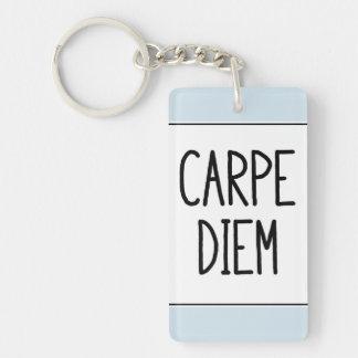 carpe diem keychain - inspirational motivational