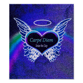 Carpe Diem Latin Quote Poster