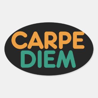 Carpe Diem Oval Sticker