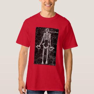 Carpe Diem Pompeii Skeleton Mosaic T-Shirt