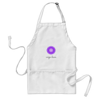 Carpe Diem purple flower Standard Apron