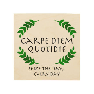 Carpe Diem Quotidie - Seize the day, every day Wood Print