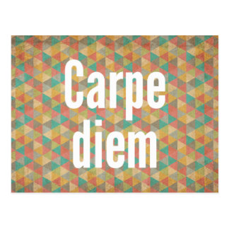 Carpe diem, Seize the day, Motivational Quotes Postcard