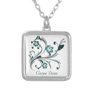 Carpe Diem Silver Plated Necklace