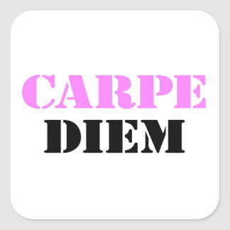 Carpe Diem Square Sticker