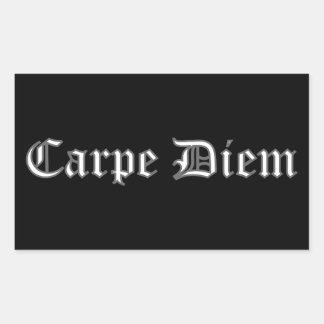 Carpe Diem Rectangular Sticker