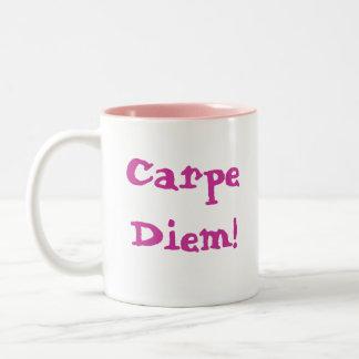 Carpe Diem! Two-Tone Coffee Mug