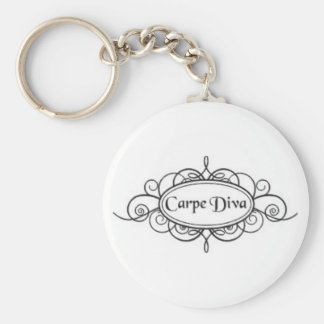 Carpe Diva Logo Key Ring