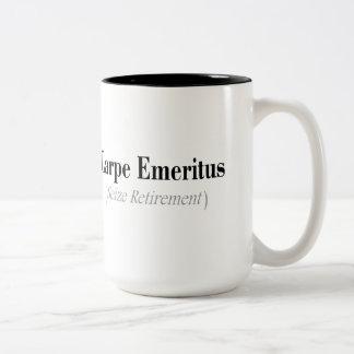 Carpe Emeritus (Seize Retirement) Gifts Two-Tone Mug