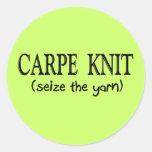 Carpe Knit   (Seize the Yarn) Knitter Gifts Stickers