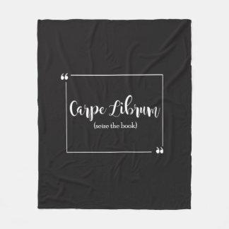 Carpe Librum Fleece Blanket