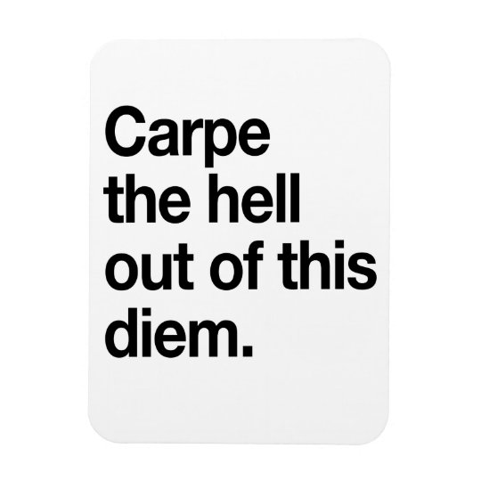 Carpe the Hell Out of This Diem Magnet