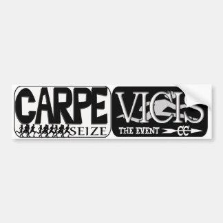 CARPE VICIS - SEIZE THE EVENT  LATIN CROSS COUNTRY BUMPER STICKER