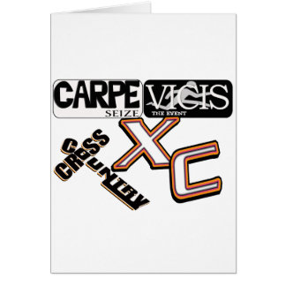 CARPE VICIS - SEIZE THE EVENT  LATIN CROSS COUNTRY GREETING CARD