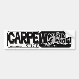 CARPE VICTORIA - SEIZE THE VICTORY - CROSS COUNTRY BUMPER STICKERS
