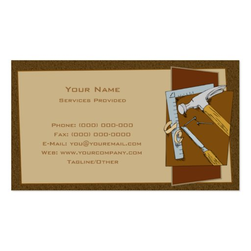 Create your own carpenter business cards page3 carpenter business card template cheaphphosting Gallery