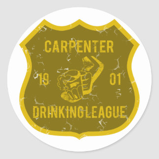 Carpenter Drinking League Classic Round Sticker