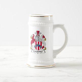 Carpenter Family Crest Beer Stein