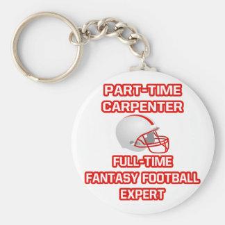 Carpenter .. Fantasy Football Expert Basic Round Button Key Ring