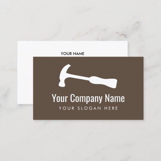 Carpenter hammer logo handyman construction business card zazzle carpenter hammer logo handyman construction business card reheart Gallery
