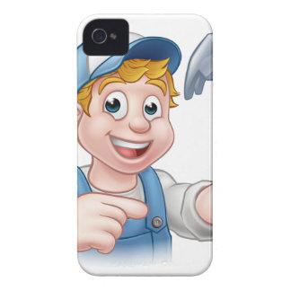 Carpenter Handyman Holding Hammer Case-Mate iPhone 4 Cases