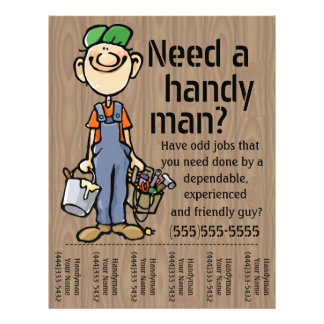 Carpenter Handyman Plumber Painter Earn Money 21.5 Cm X 28 Cm Flyer