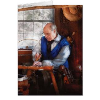 Carpenter - The Woodturner Greeting Cards