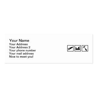 Carpenter tools business card template