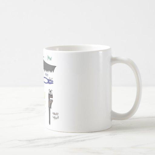 Carpenter Tools Whimsical Cartoon Art Coffee Mug