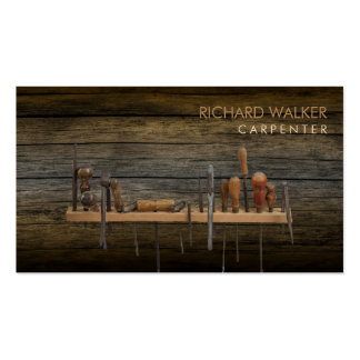 Carpenter Tools Woodworking Professional Wood Pack Of Standard Business Cards