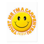 Carpenter Trust Me Smiley Post Cards