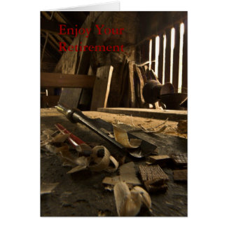 Carpenters  Busy Workshop Retirement Card
